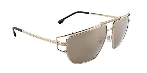 (Versace Men's VE2202 Pale Gold/Light Brown Mirror/Dark Gold One Size)
