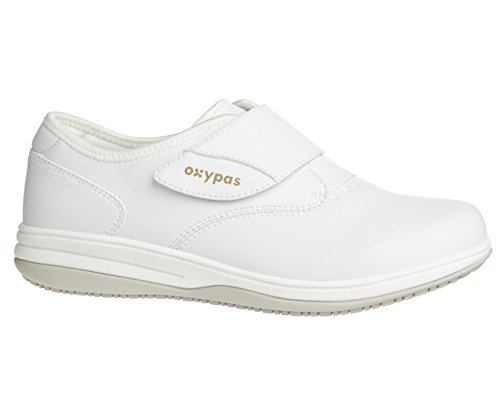 Oxypas Emily, Lightweight, Anti Slip, Antistatic, Shock absorbing, Suitable for Healthcare Professionals, Nurses and caregivers, Removable Inner Sole White.