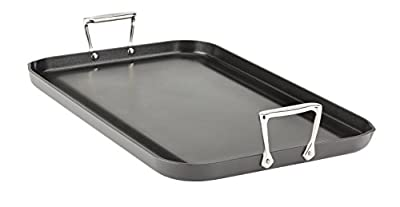 All-Clad E7951464 HA1 Hard Anodized Nonstick Dishwasher Safe PFOA Free Grande Griddle Cookware, 13-Inch by 20-Inch, Black