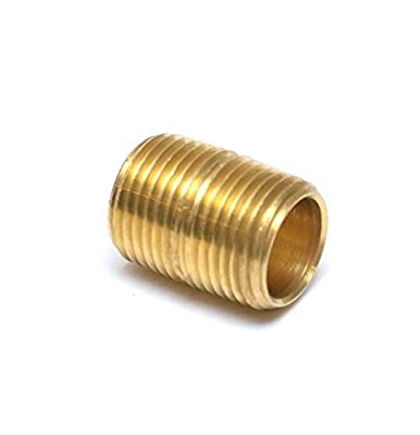 "FasParts Brass 1/2"" Male NPT MPT MIP Close Nipple Brass Pipe Fitting Fuel / Air / Water / Boat / Gas / Oil WOG"