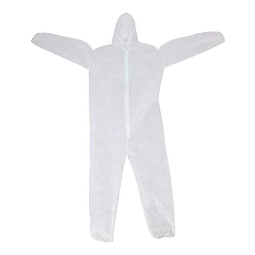 West Chester 3506 XXX2XL WGT SBP Coverall Hood with Elastic Wrist & Ankles, 5XL, White (Pack of 25)