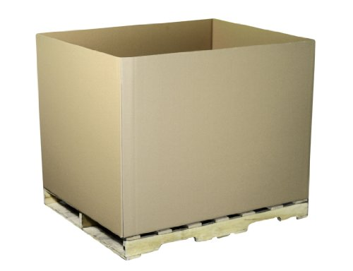 Aviditi GAYLORDDW Double-Wall Corrugated Box, 48'' Length x 40'' Width x 36'' Height, Kraft (Pack of 5) by Aviditi