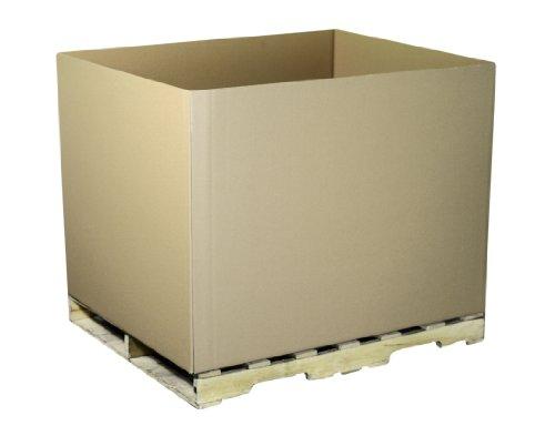 Aviditi GAYLORDDW Double-Wall Corrugated Box, 48'' Length x 40'' Width x 36'' Height, Kraft (Pack of 5) by Aviditi