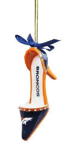 - Team Sports America NFL Denver Broncos High Heel Shoe Christmas Ornament, Small, Multicolored