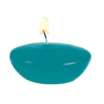 Teal Floating Candles 24 pack