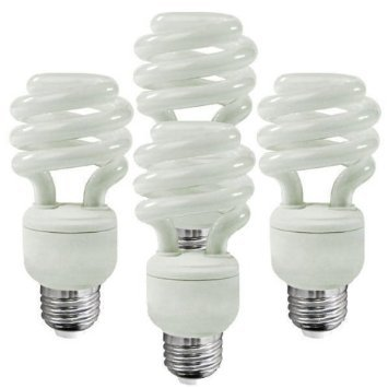 EcoSmart 40W Equivalent Soft White (2700K) Spiral CFL Light Bulb (4-Pack)