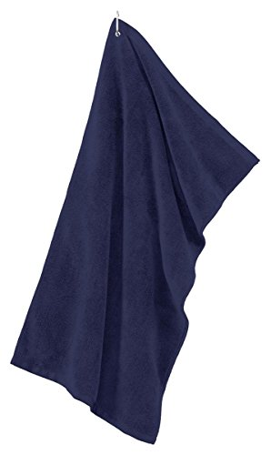 Golf Microfiber Towel Grommeted (Port Authority - Grommeted Tri-Fold Golf Towel. >> One size,Navy)
