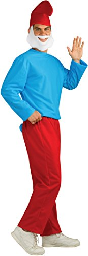 Adults For Smurfs Costumes (Rubie's Men's Papa Smurf Adult Costume, Smurfs: The Lost Village,)