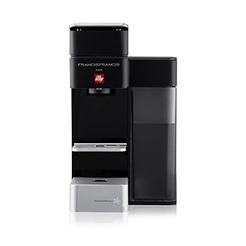 illy 60208 y5 Espresso and Coffee Machine, 5.7 x 9.6 x 11.2, Black