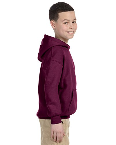 Gildan Youth Heavyweight Blend Hooded Sweatshirt in Maroon - X-Large (18/20)