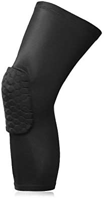 Knee Brace Supports Breathable Honeycomb Protective Knee Pads Sleeve Compression Protection Football Basketball Sports Protector, L