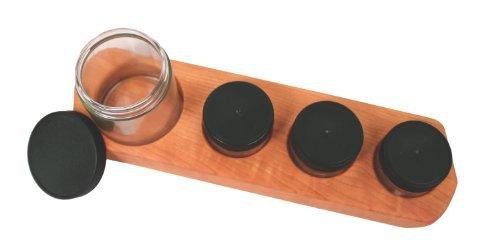 Camden Glass (Camden Rose Cherry Wood Four Jar Paint Holder)