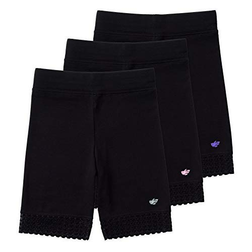 - Lucky & Me (3 Pack Jada Girls Bike Shorts and Dance Shorts | Tagless | Super Soft Cotton with Lace Trim | Good Coverage Black