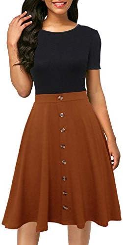 Berydress Womens Colorblock Sundress Knee Length product image