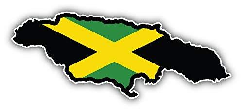 DG Graphics Jamaica Map Flag Art Decor 6