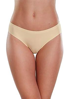 ALTHEANRAY Women's Seamless Hipster Underwear No Show Panties Soft Stretch Bikini Underwears 6 Pack