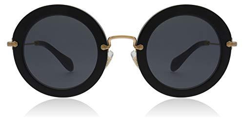 Miu Miu Women's MU 13NS Designer Sunglasses, Black (Miu Miu Sunglasses)