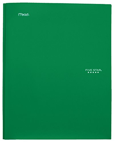 """043100340300 - Five Star Pocket Folder, 2 Pocket Stay-Put Plastic Folder, 11-5/8"""" x 9-5/16"""", Color Selected For You May Vary (34030) carousel main 12"""