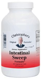 Christopher's Original Formulas Intestinal Sweep -- 625 mg - 180 Vegetarian Capsules