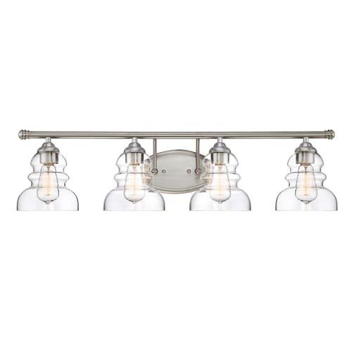 Millennium Lighting 7334-SN Millennium:Four Light Vanity 4-Light Bath Vanity In Satin Nickel