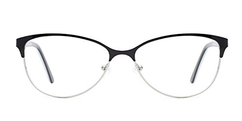 TIJN Two-tone Cateye Metallic Non-prescription Eyeglasses Glasses - Rimless Eyeglasses Cateye