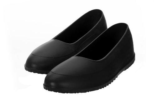 AZZEZO Galoschen schützen Ihre Schuhe vor Regen, Schnee und Matsch - Schwarz