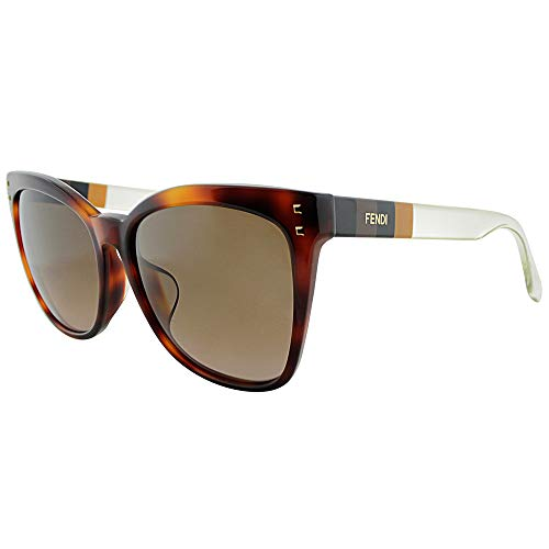 Fendi Wayfarer Brown Shade Asia Fit - Replica Fendi Sunglasses