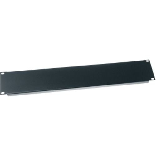 Middle Atlantic 3.5 in. 2 SP Blank Panel Flanged in Black
