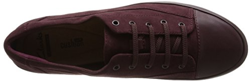 Clarks Camión Gracia Piso Burgundy Suede/Leather