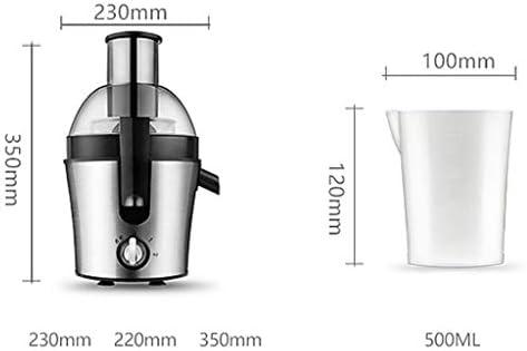 YSjuicer Juicer Lento para Frutas y Verduras Prensa en frío Juice Extractor de Tres velocidades con Fruta Entera Acero Inoxidable 0.5L