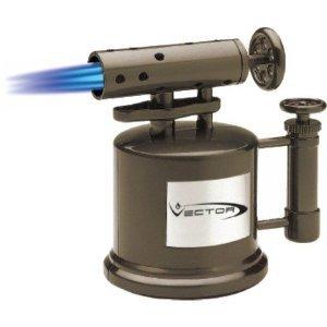 Lighter Cigarette Vector (Vector TriPump Table Top Cigar Torch Lighter Gunmetal Tri Pump)