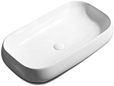 WJ 洗面台 バスルームの洗面台、カウンター盆地洗面台家庭用浴室流域(蛇口なしシングル盆地)上記スクエアセラミック、利用可能な3つのサイズ /-/ (Size : C)
