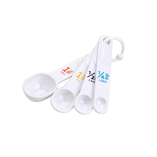 Good Cook Classic Set of 4 Plastic Measuring Spoons (19865) - Classic Measuring Spoons