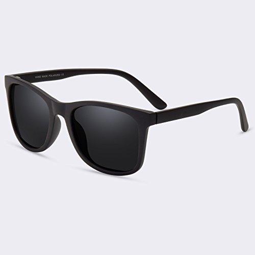 sol C01Gray TIANLIANG04 Mens Gafas HD lente macho C01gris de sol polarizadas gafas Vintage de 0HwWOqr0