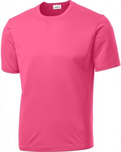 Joe's USA Men's Athletic All Sport Training T-Shirt ,neon pink ,Medium