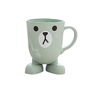 Creative Maixiang cute children's tooth cup mini cartoon wash cup, suitable for children's stereo base household brushing cup?Green