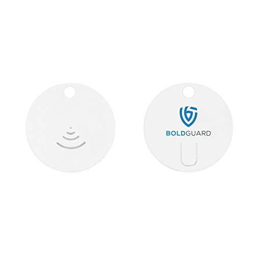 Boldguard Tracking Device - Mini Bluetooth Smart Personal Anti-Theft Tracking Device - Round - Perfect for Men, Women, Kids, and Valuables (White)