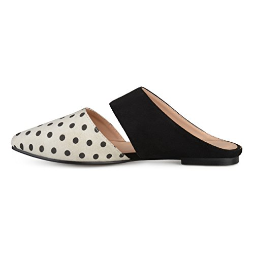 Journee Collection Womens Faux Leather Slip-on Faux Suede Mules Dot