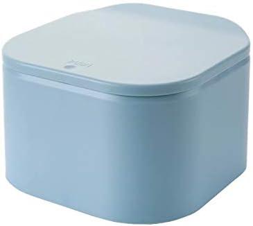 LglJT-ljt cubos de basura de reciclaje Caja turística plástico Mini bote de basura de escritorio contenedores de basura de la cocina Cubo de basura con tapa de prensa for Ministerio de coches: