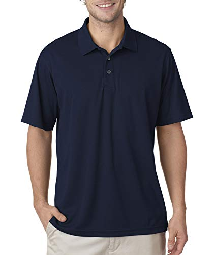 UltraClub 8210T Men's Tall Cool & Dry Mesh Pique Polo Polyester 2XLT - Pique Polyester Mesh