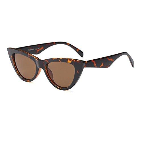 Color Rock de Mujer Brown para Ojo Gafas Leopard Retro gato Enorme sol UV400 Hzjundasi Gafas Estilo Lente Escoger Bisagra Marco 9 primavera C7 Moda de de wXqA1TFx8