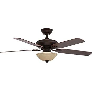 amazon com hampton bay larson 52 in brushed nickel ceiling fan by