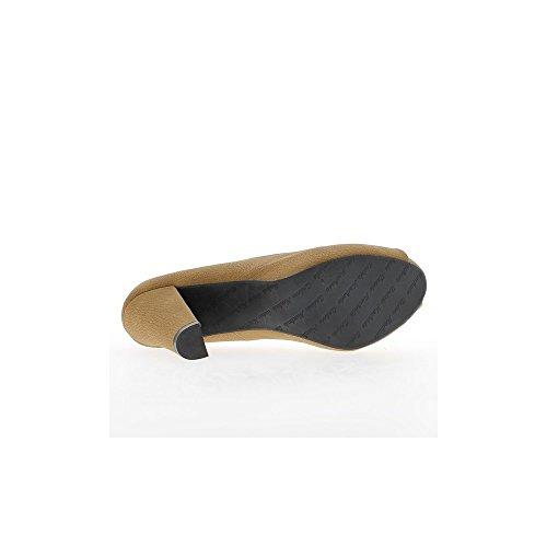 Escarpins grande taille ouverts taupe mat à talons de 11,5cm et plateforme de 3cm