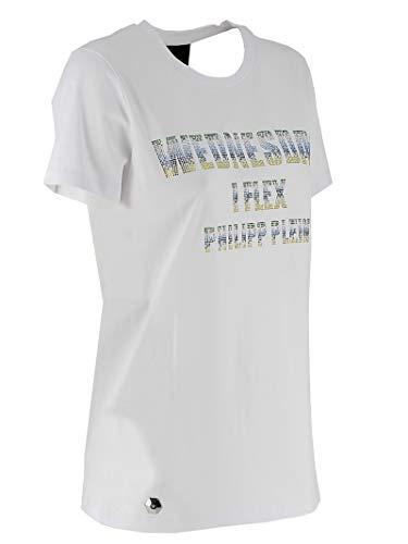Blanc Femme Philipp Coton S19cwtk1258pjy002n01 shirt Plein T xOgRtqnR0w