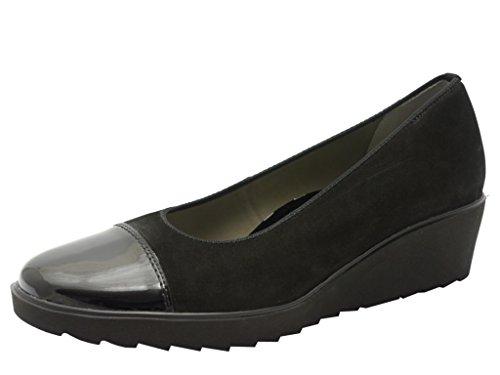 ara Marsala - zapatos de tacón cerrados de cuero mujer negro