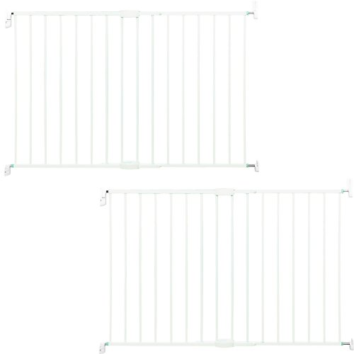 Munchkin Extending Extra Tall and Wide Metal Gate, White - Set of 2