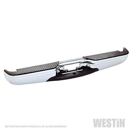 Fey 31002 Perfect Match Custom Fit Chrome Replacement Rear Bumper with Mounting Brackets