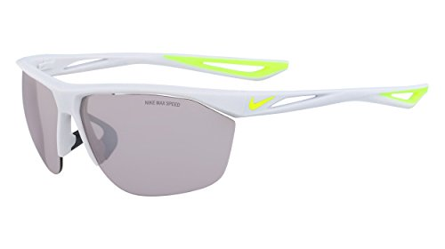 Nike Men's Tailwind M Rectangular Sunglasses, Pure Platinum/Volt, 70 mm ()