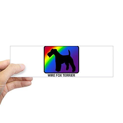 CafePress Wire Fox Terrier (Rainbow) Bumper Sticker 10