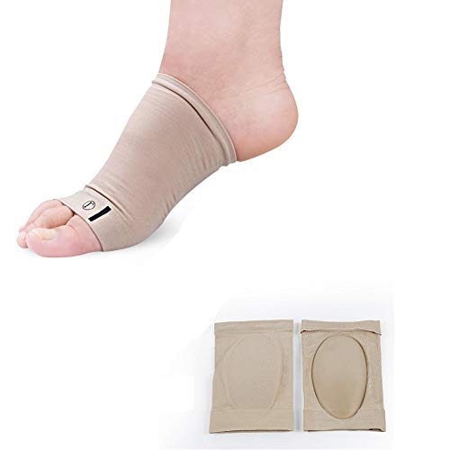 Iseedy Elastic Bow Foot Care Pain Relief Plantar Fasciitis Support,Flat Foot Support,Arch Support(2 Pcs/Set)